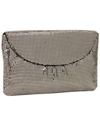 Whiting & Davis - Curved Flap Clutch - Lyst