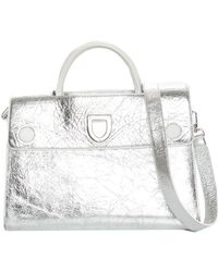 Dior - Metallic Silver Leather Diorever Satchel, Never Carried - Lyst