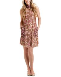 Sweet Pea By Stacy Frati - Popeye Brown Floral Halter Dress - Lyst