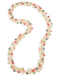 Kenneth Jay Lane - 22k Plated Resin & 3mm Faux Pearl Necklace - Lyst