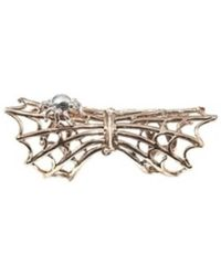 Bernard Delettrez - Bronze Articulated Spiderweb Ring With Silver Spider - Lyst