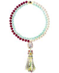 Bijoux De Famille - Funky Dollar Tassel Necklace - Lyst