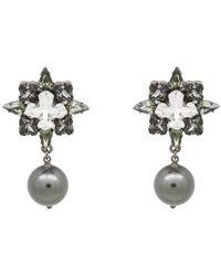 Ellen Conde - Silver Night Bonnie Drop Earrings - Lyst