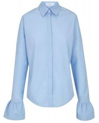 The 2nd Skin Co.   Shirt With Ruffle Cuffs   Lyst
