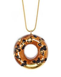 Tadam! Design - Caramel Doughnut With Chocolate Sprinkles And Gold Glaze - Lyst