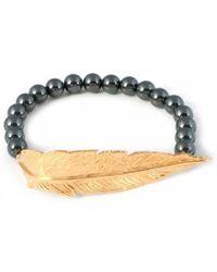 Leivan Kash - Feather Hematite Bracelet - Lyst