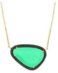 Christina Debs | Hard Candy Chrysoprase And Diamond Necklace | Lyst