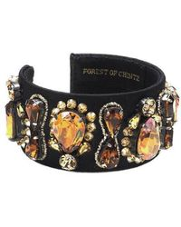 Forest Of Chintz - Vintage Crystal Cuff - Lyst