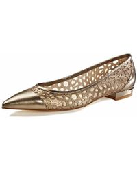 Emy Mack - Madison Gold Pointy Toe Flats - Lyst