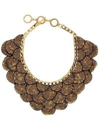 Forest Of Chintz - Gilted Leaf Necklace - Lyst