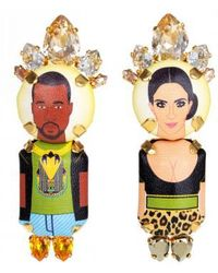 "Bijoux De Famille | ""kanye Kim"" Crown Pendant Earrings 