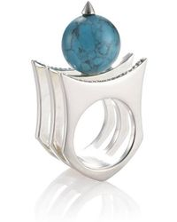 Yael Salomon - Greta 01 Silver And Turquoise Ring - Lyst
