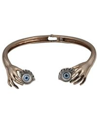 Bernard Delettrez | Blue Eyes Bronze Necklace | Lyst