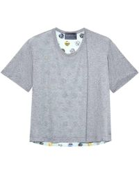 Antipodium - Hackney Spot Mint Drape Tuck T Shirt - Lyst