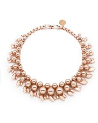 Ellen Conde - Colette Rose Gold Necklace - Lyst
