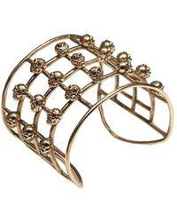 Bernard Delettrez   Cage Skulls Bronze Cuff   Lyst