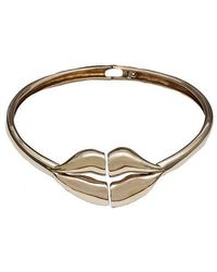 Bernard Delettrez - Brass Large Lips Necklace - Lyst