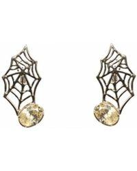Bernard Delettrez | Web Bronze Earrings | Lyst