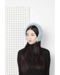 Onar | Cleo Merino Lamb Fur Headband - Aqua | Lyst