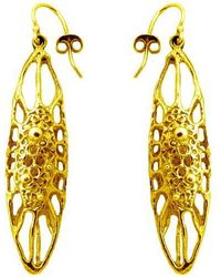 Ayaka Nishi - Gold Long Cell Earrings - Lyst