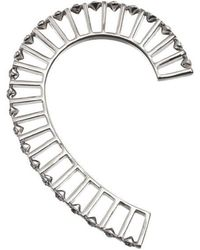 Yael Salomon - Ella 03 Silver And Crystal Ear Cuff - Lyst