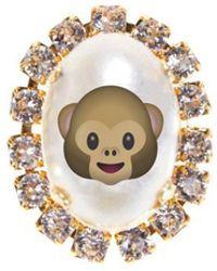 "Bijoux De Famille | ""monkey Emoji"" Cabochon Pins | Lyst"