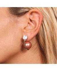 Leivan Kash | Yan White Rhodium Earring | Lyst