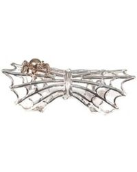 Bernard Delettrez - Silver Articulated Spiderweb Ring With Bronze Spider - Lyst