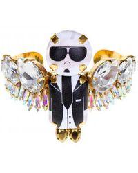 """Bijoux De Famille   """"karl"""" Large Wings Bracelet Choker   Lyst"""