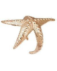 Bernard Delettrez - Sea Star Gold Tone Cuff - Lyst