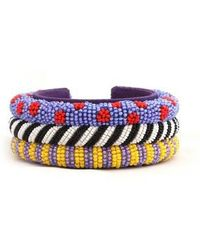 Forest Of Chintz - 3 Cord Masai Cuff - Lyst