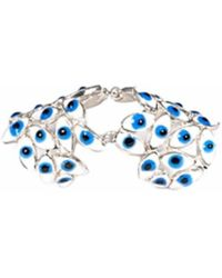 Bernard Delettrez - Articulated Silver Ring With Blue Eyes - Lyst
