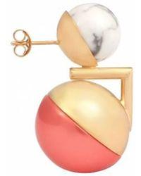 Leivan Kash - Ojo Gold Earring - Lyst