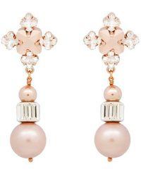 Ellen Conde - Almond Blanche Drop Earrings - Lyst