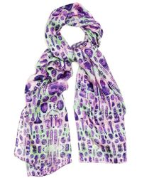 Kekkai - Ancient Reflections 1 Silk Scarf - Lyst