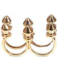 Bernard Delettrez - Six Stud Bronze Ring - Lyst