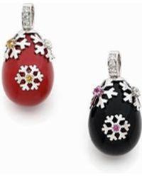 Stéphanie Deydier - Anna Black Faberge Egg Enamel Pendant - Lyst