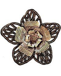 Forest Of Chintz - Crystal Fiore Brooch - Lyst