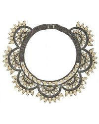 BCBGMAXAZRIA - Metal-spike Bib Necklace - Lyst