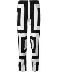 KENZO - Geometric Print Trousers Pants - Lyst