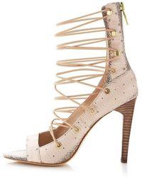 BCBGMAXAZRIA - Bcbg Maxazria Francis Snake Embossed Shoes - Lyst