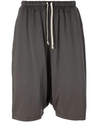 Rick Owens - Drkshdw Dropped Crotch Cotton Pod Shorts - Lyst