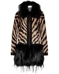 Emilio Pucci - Beige Fox And Kidassia On Ponyskin Coat - Lyst