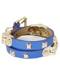 BCBGMAXAZRIA - Bcbg Maxazria Blue Hinged Wrap Bracelet Jssje834 - Lyst