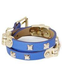 BCBGMAXAZRIA - Blue Hinged Wrap Bracelet Jssje834 - Lyst