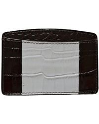 Dries Van Noten - Two Tone Crock Print Leather Card Holder - Lyst