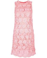 Christopher Kane - Runway Coral Lace Overlay Dress - Lyst