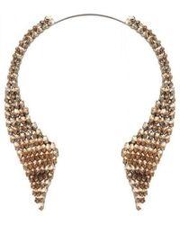 BCBGMAXAZRIA - Stone Collar Necklace - Lyst