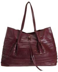 b403eeacb31 Nina Ricci - Liane Tiered Large Duffel Burgundy Leather Shoulder Bag - Lyst