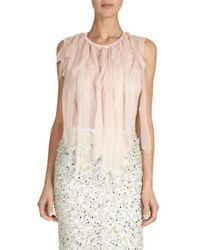 Nina Ricci - Mousseline Strip Knit Top - Lyst